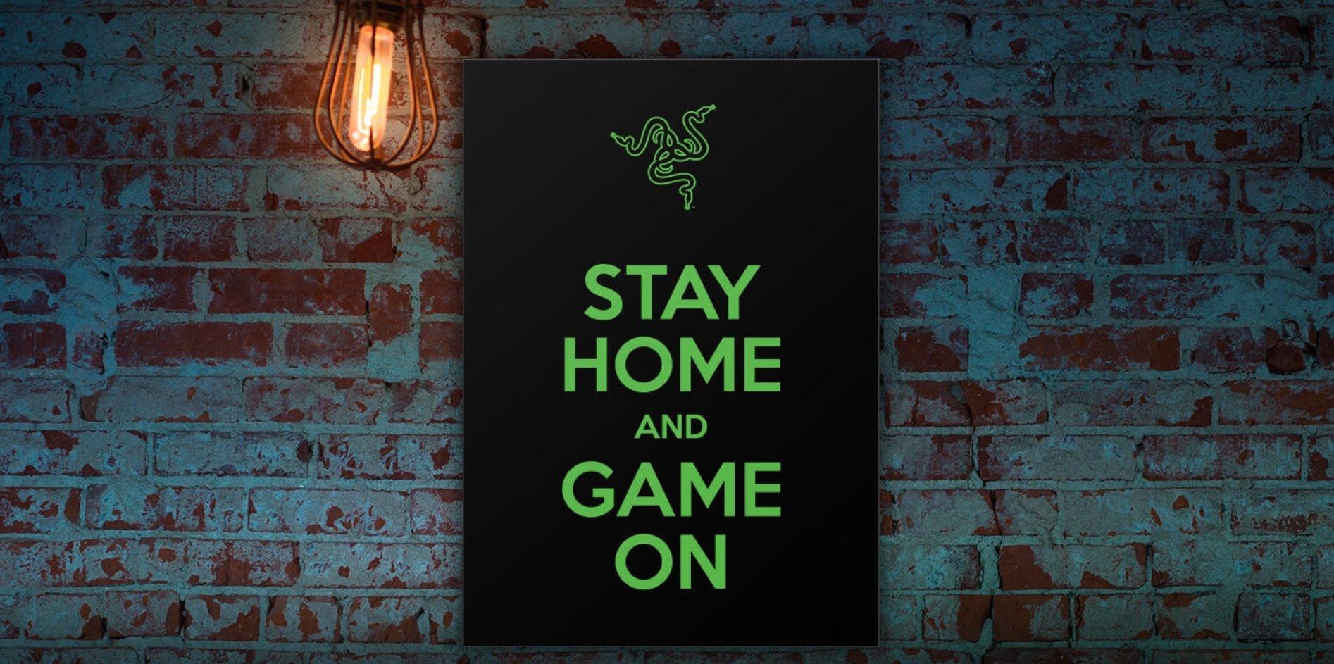 雷蛇-Stay home and game on-Social Distance-創意