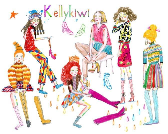 時尚插畫家-Kellykiwi