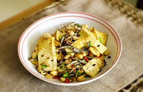 Monchochou食譜教學-小魚干兒炒白豆干