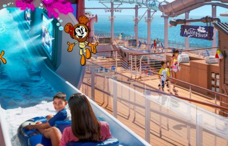 迪士尼遊輪願望號 海上景點